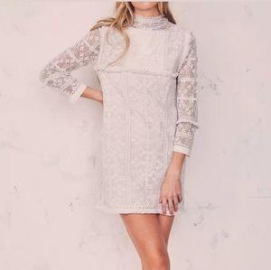 LOVESHACKFANCY Women's Gia Dress 90% Cotton Lace O